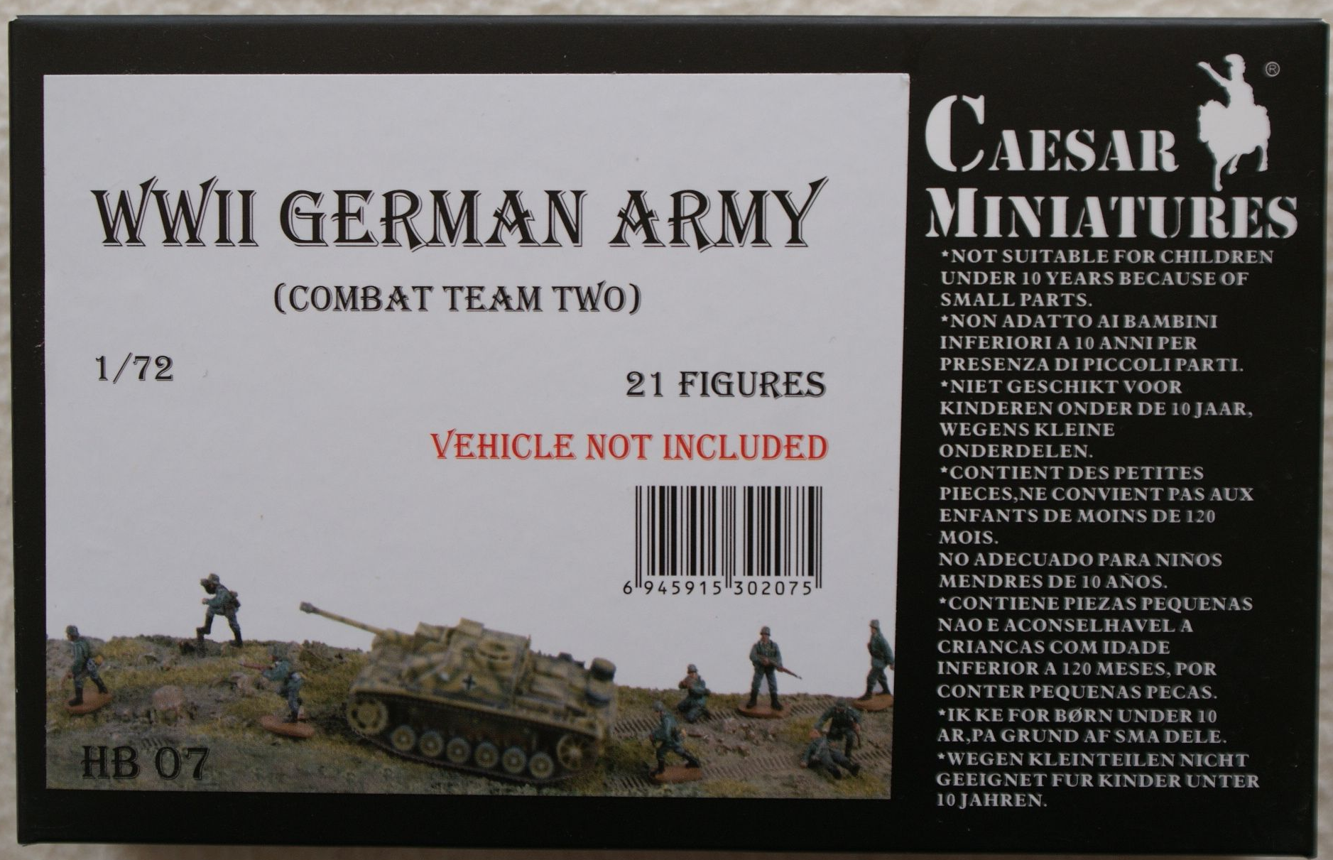 Combat Team Two CAESAR MINIATURES® HB07 WWII German Army in 1:72